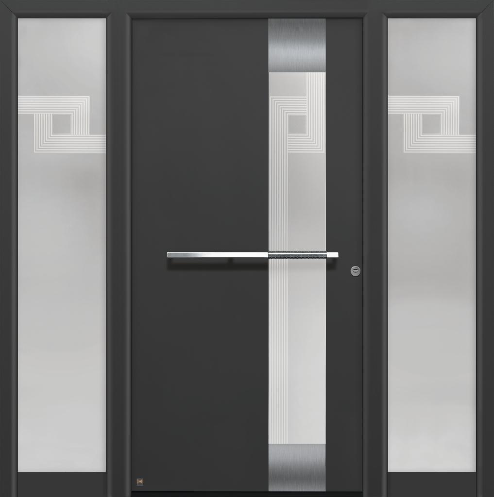 Eingangstüren modern grau  Eingangstüren Holz Mit Seitenteil: Hörmann topcomfort haustüren ...